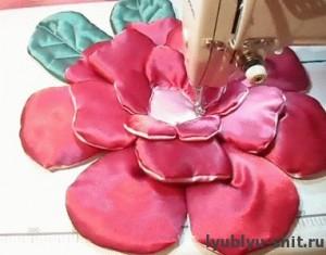 сборка подушки-розы