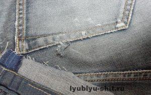 незаментно заштопать джинсы